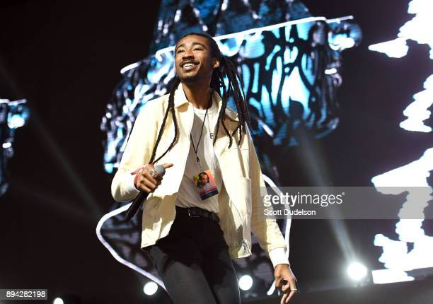 Rapper Topaz Jones performs onstage at the Rolling Loud Festival at NOS Events Center on December 16 2017 in San Bernardino California