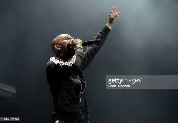 Rapper Tory Lanez performs onstage during the 'Nobody Safe' tour at The Forum on June 14 2017 in Inglewood California