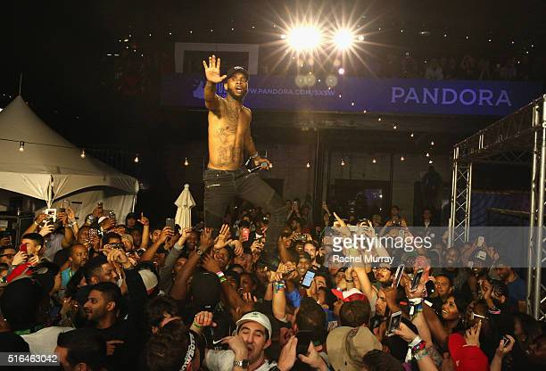 Rapper Tory Lanez performs onstage during the PANDORA Discovery Den SXSW on March 18 2016 in Austin Texas