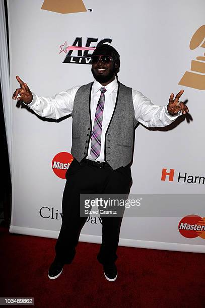 Rapper TPain arrives at the 52nd Annual GRAMMY Awards Salute To Icons Honoring Doug Morris held at The Beverly Hilton Hotel on January 30 2010 in...