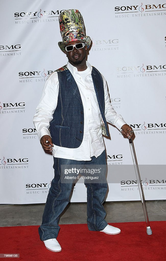 Rapper T-Pain arrives at the Sony BMG Music 2008 Grammy Awards After