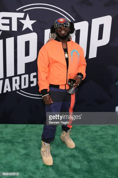 Rapper TPain attends the BET Hip Hop Awards 2017 at The Fillmore Miami Beach at the Jackie Gleason Theater on October 6 2017 in Miami Beach Florida