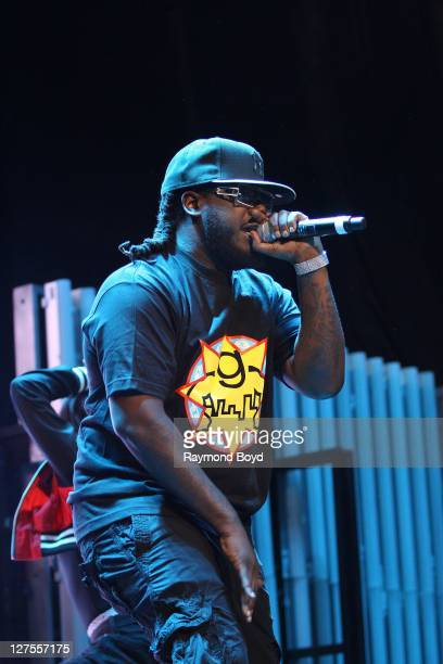 Rapper TPain performs at the First Midwest Bank Amphitheatre in Tinley Park Illinois on SEPTEMBER 23 2011