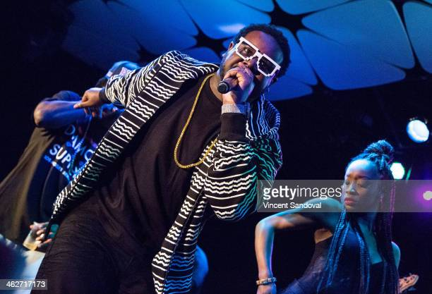 Rapper TPain performs during SKEE Live at The Conga Room at LA Live on January 14 2014 in Los Angeles California