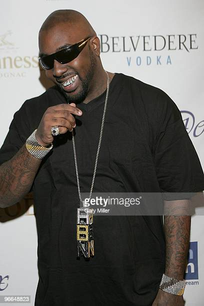 Rapper Trae on the red carpet for the Kenny Smith AllStar Bash at Deux Lounge on February 12 2010 in Dallas Texas