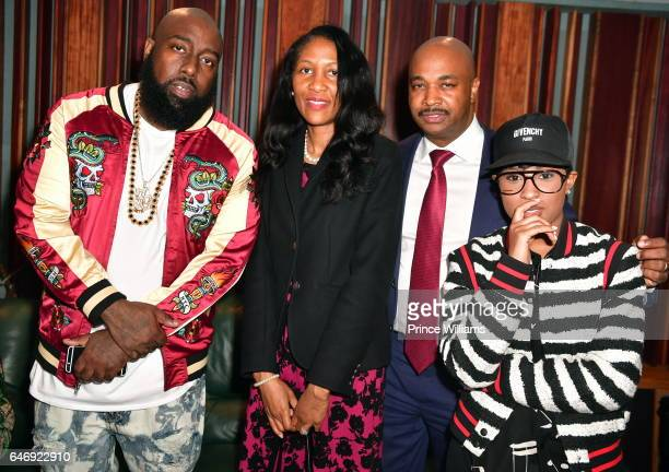 Rapper Trae Tha Truth Natalie Hall Kwanza Hall and DeJ Loaf attend 'TOGETHER' A Black History Month Celebration Of Unity Community at Tree Sound...