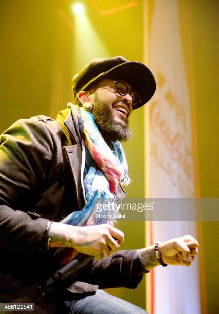 Rapper Travie McCoy performs at the Z100 & Coca-Cola All Access Lounge at Z100?s Jingle Ball 2013 pre-show at Hammerstein Ballroom on December 13,...