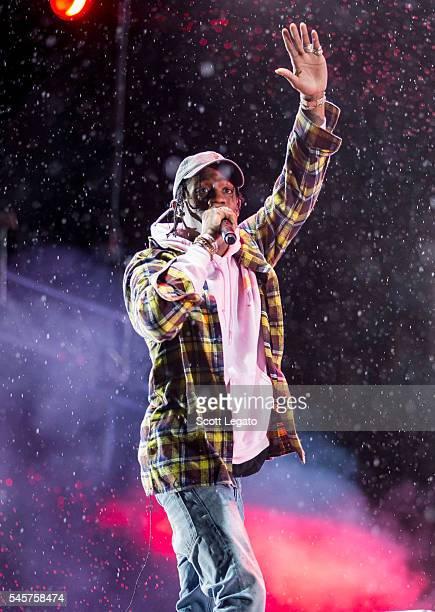 Rapper Travis Scott performs at Festival D'ete De Quebec on July 7 2016 in Quebec City Canada