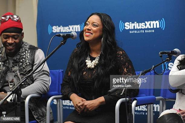 Rapper Treach Criss and Cicely Evans attend Dr Jenn Berman tapes The Dr Jenn Show at SiriusXM Studios on November 11 2014 in New York City