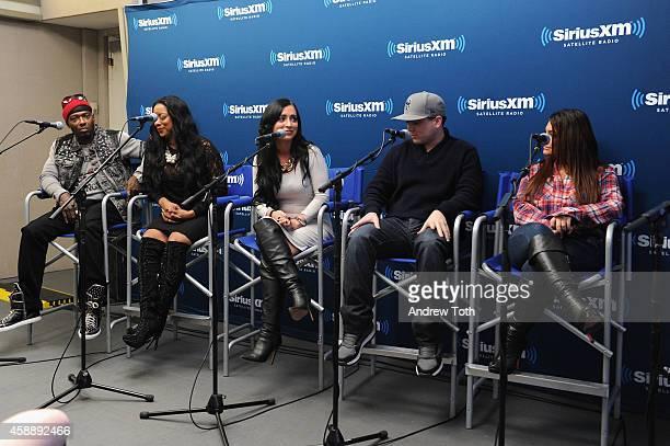 Rapper Treach Criss Cicely Evans Angelina Pivarnick Chris Buckner and Deena Cortese attend Dr Jenn Berman tapes The Dr Jenn Show at SiriusXM Studios...