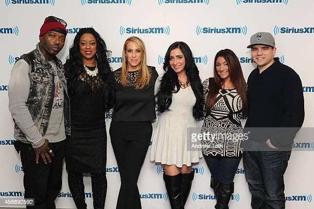 Rapper Treach Criss Cicely Evans Dr Jenn Berman Angelina Pivarnick Deena Cortese and Chris Buckner attend Dr Jenn Berman tapes The Dr Jenn Show at...