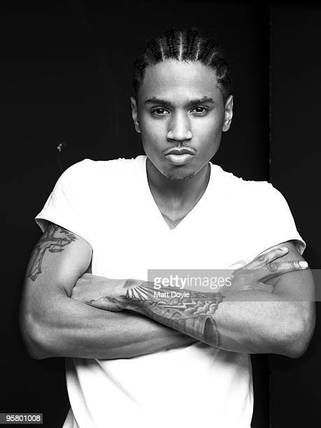 Rapper Trey Songz poses for a portrait session on February 21 New York NY