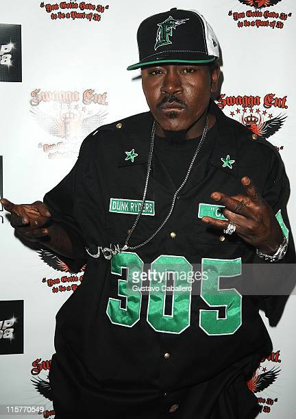 Rapper Trick Daddy poses at the Swagga Entertainment and Dunk Ryder Records Presents Miami Stand Up 2008 at Mansion nightclub on July 20 2008 in...