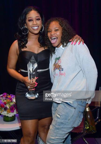 Rapper Trina and Kodie Shane attend Tune Chats Honoring Trina on July 11 2019 in Atlanta Georgia