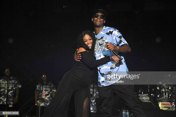 Rapper Trina and rapper Silk The Shocker perform onstage at 2017 Essence Festival at Mercedes-Benz Superdome on July 2, 2017 in New Orleans,...