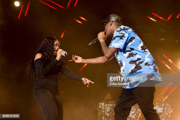Rapper Trina and Silkk The Shocker perform onstage at the 2017 ESSENCE Festival Presented By Coca Cola at the Mercedes-Benz Superdome on July 2, 2017...