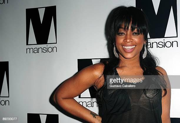 Rapper Trina arrives for birthday celebration at Mansion nightclub on July 23 2009 in Miami Beach Florida
