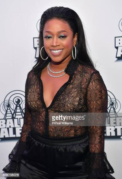 Rapper Trina attends Baller Alert's Bowl With a Baller at Basement Bowl on October 5 2017 in Miami Florida