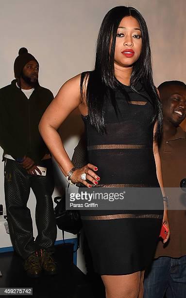 Rapper Trina attends Fashion Jams at Social Haven on November 19 2014 in Atlanta Georgia