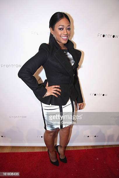 Rapper Trina attends FrontRow By Shateria Moragneel Fashion Show at STYLE360 presented by Conair Fashion Pavilion on February 12 2013 in New York City