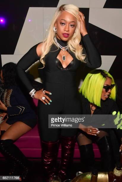 Rapper Trina attends K Michelle Birthday Celebration at Gold Room on March 11 2017 in Atlanta Georgia