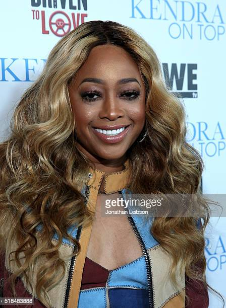 Rapper Trina attends WE tv's premiere of Kendra On Top and Driven To Love at Estrella Sunset on March 31 2016 in West Hollywood California