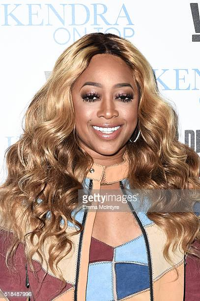Rapper Trina attends WE tv's premiere of 'Kendra On Top' and 'Driven To Love' at Estrella Sunset on March 31 2016 in West Hollywood California