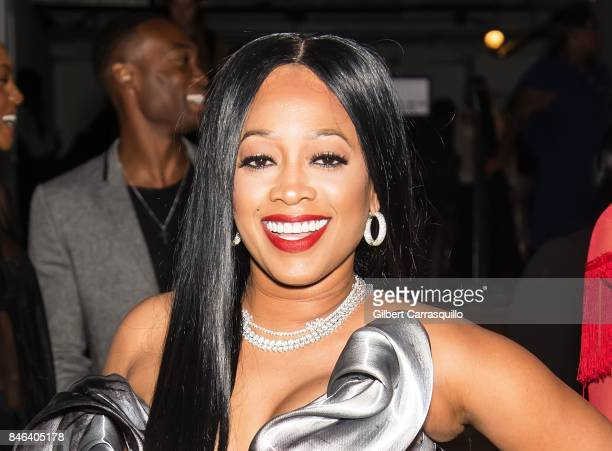 Rapper Trina is seen leaving the Blonds fashion show during New York Fashion Week The Shows at Gallery 1 Skylight Clarkson Sq on September 12 2017 in...