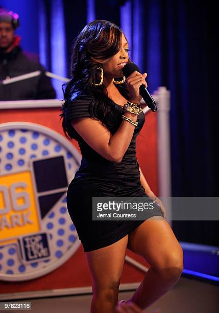 Rapper Trina performs at BET's 106 Park at BET Studios on March 10 2010 in New York City