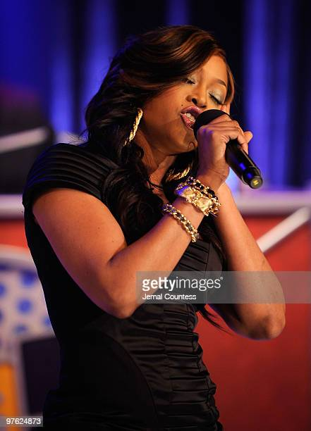 Rapper Trina performs at BET's ''106 Park'' at BET Studios on March 10 2010 in New York City