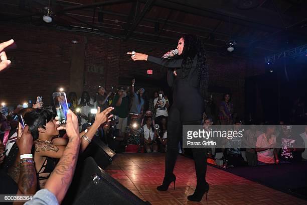 Rapper Trina performs in concert on September 3 2016 in Atlanta Georgia