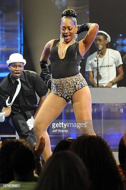 Rapper Trina performs onstage at the 2010 Vh1 Hip Hop Honors at Hammerstein Ballroom on June 3 2010 in New York City