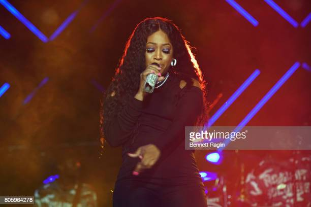 Rapper Trina performs onstage at the 2017 ESSENCE Festival Presented By Coca Cola at the MercedesBenz Superdome on July 2 2017 in New Orleans...