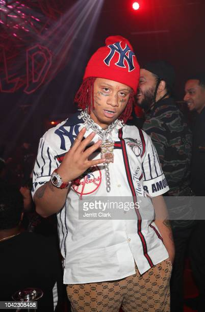 Rapper Trippie Redd attends Lil Wayne's 36th birthday party and Carter V release at HUBBLE on September 27 2018 in Los Angeles California