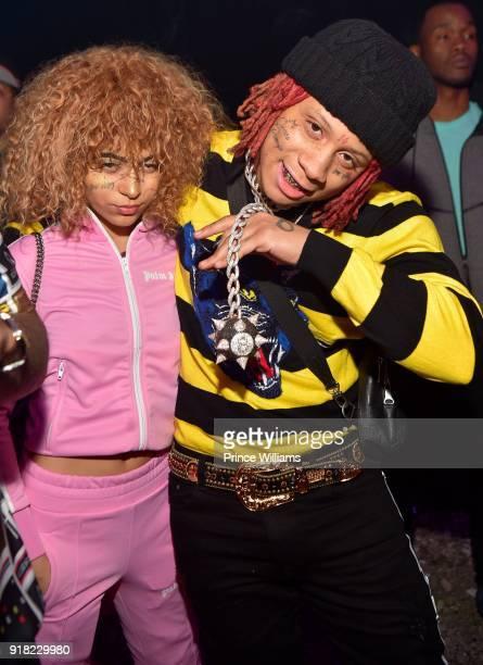 Rapper Trippie Redd attends Trap Du Soleil Celebrating Lucci on February 13 2018 in Atlanta Georgia