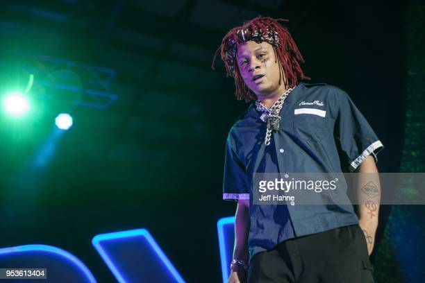Rapper Trippie Redd performs at Charlotte Metro Credit Union Amphitheatre on May 1 2018 in Charlotte North Carolina