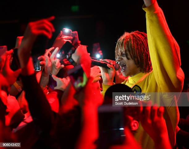 Rapper Trippie Redd performs onstage at The Novo by Microsoft on January 15 2018 in Los Angeles California