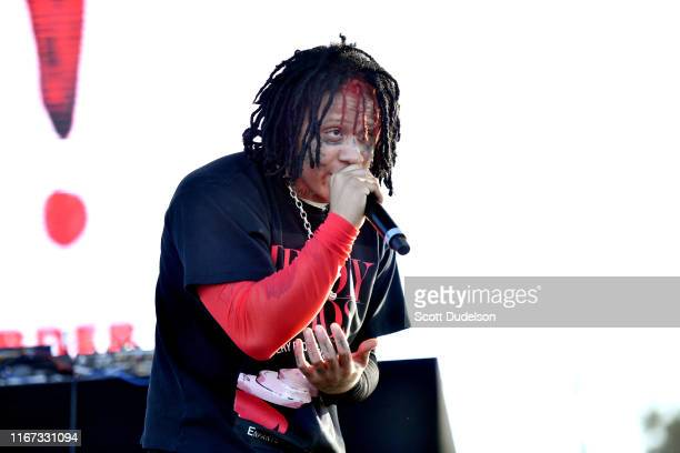 Rapper Trippie Redd performs onstage during the 923 Real Street Festival at Honda Center on August 10 2019 in Anaheim California
