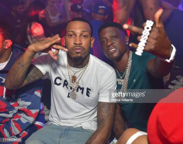 Rapper Trouble and Lil Boosie attend Revolt Weekend Kickoff at Allure on September 13 2019 in Atlanta Georgia