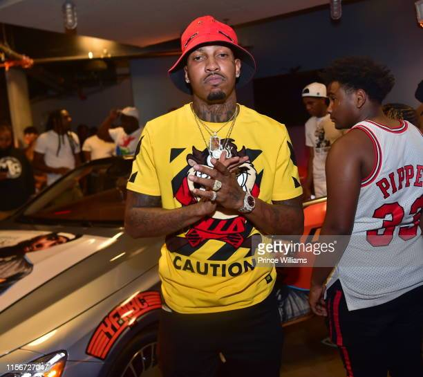 Rapper Trouble attends 650 LUC Gangsta Grillz Listening Event at The Garage at Tech Square on June 17 2019 in Atlanta Georgia