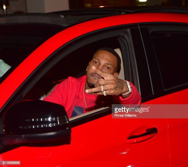Rapper Trouble attends His welcome Home Party at Gold Room on January 26 2018 in Atlanta Georgia