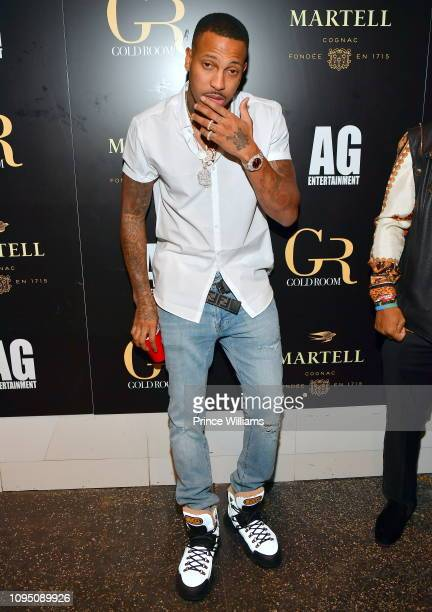 Rapper Trouble attends the 2nd annual No Cap Tuesday at Gold Room on January 16 2019 in Atlanta Georgia