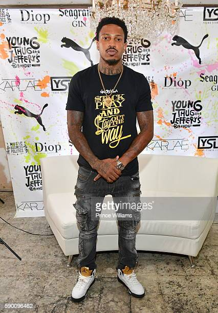 Rapper Trouble attends Young thugs 25th Birthday and PUMA campaign on August 15 2016 in Atlanta Georgia