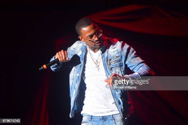 Rapper Trouble performs during Future's Nobody Safe tour concert at Lakewood Amphitheatre on May 5 2017 in Atlanta Georgia