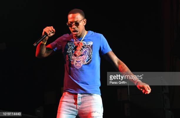 Rapper Lil Baby performs onstage during StreetzFest 2K18 at Cellairis Amphitheatre at Lakewood on August 18 2018 in Atlanta Georgia