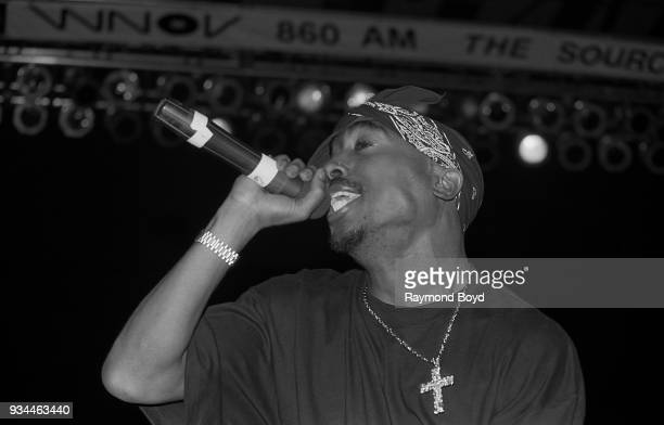 Rapper Tupac Shakur performs at the Mecca Arena in Milwaukee Wisconsin in September 1994