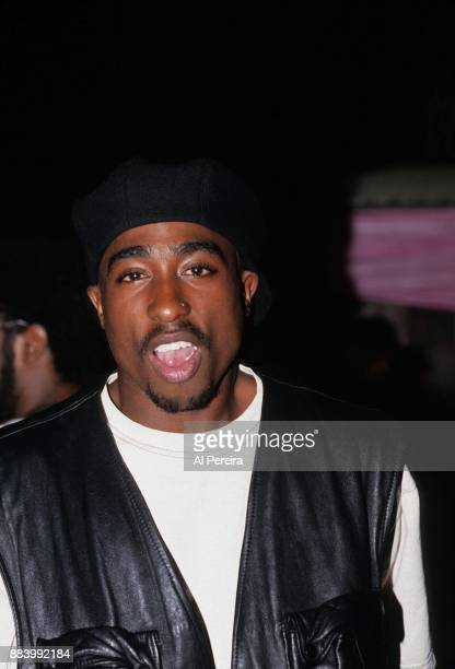Rapper Tupac Shakur poses for a portrait at Club Amazon on July 23 1993 in New York New York
