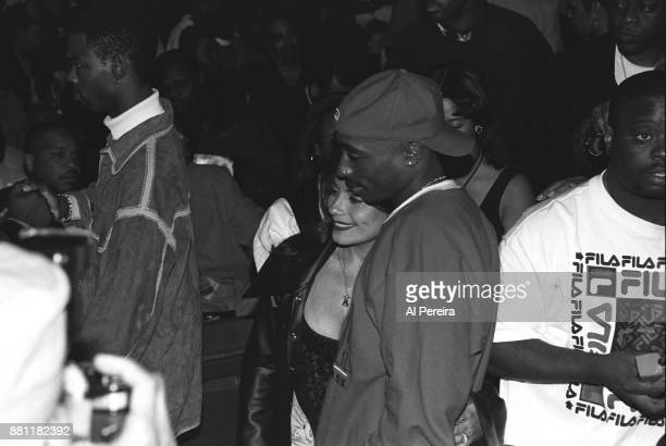 Rapper Tupac Shakur singer Lisa Lisa and comedian Chris Rock attend the first Source Awards at the Madison Square Garden's Paramount Theater on April...