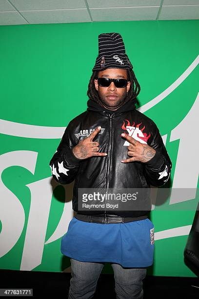 Rapper Ty Dolla $ign poses for photos in the WGCI 'Sprite Lounge' in Chicago Illinois on MARCH 06 2014