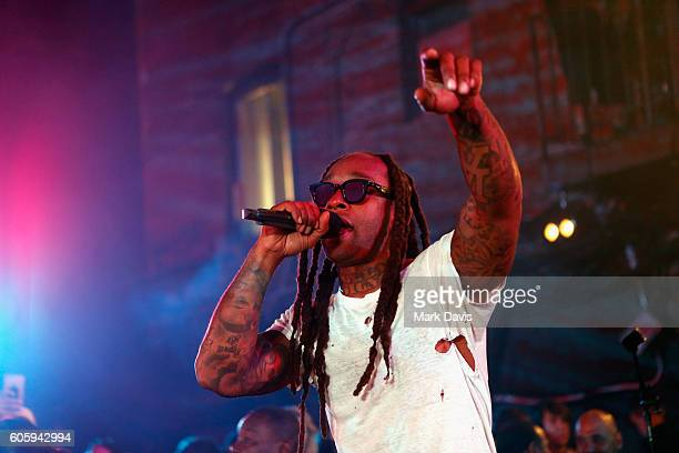 Rapper Ty Dolla Sign performs onstage at MTV's 'Wonderland' LIVE Show on September 15 2016 in Los Angeles California